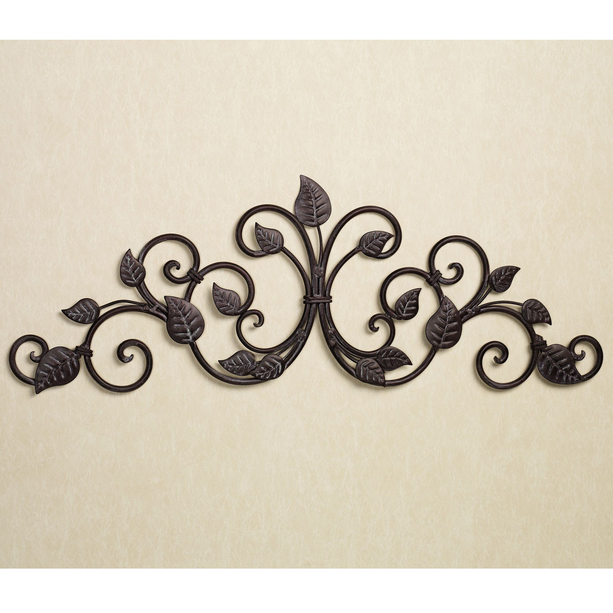 Home Scroll Leaf Wall Swag Grille (Gallery 7 of 20)