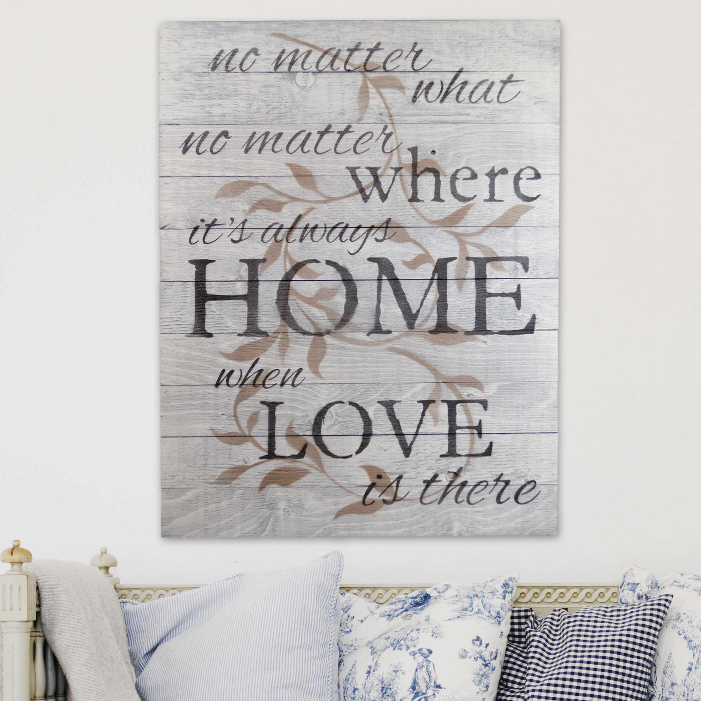 """In A Word """"welcome"""" Wall Decor By Fireside Home Throughout Widely Used Firesidehome In A Word """"no Matter What, No Matter Where, Its Always (Gallery 2 of 20)"""