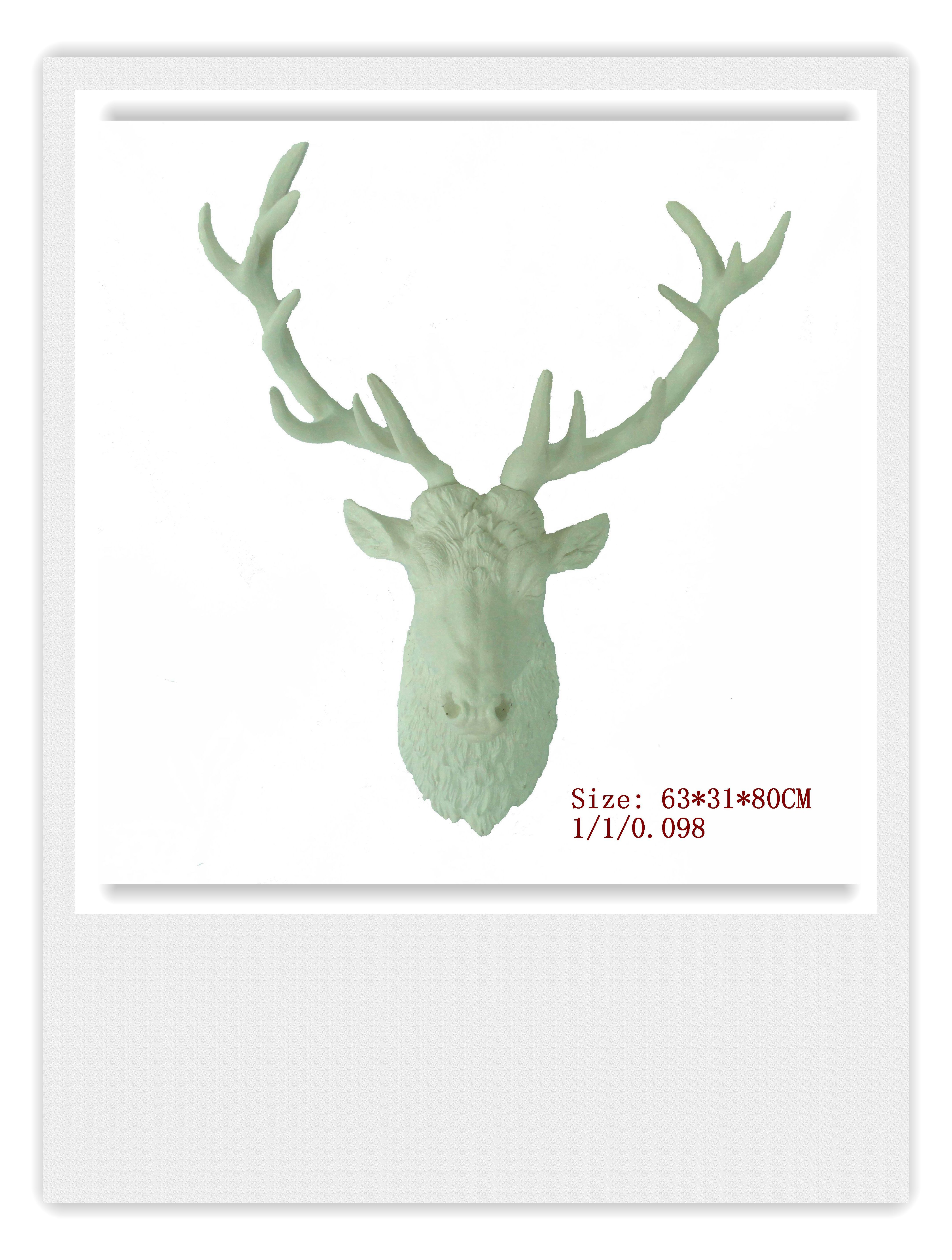 Large Deer Head Faux Taxidermy Wall Decor throughout Best and Newest White Large Deer Head Wall Hanging,the White Stag Decorwhite