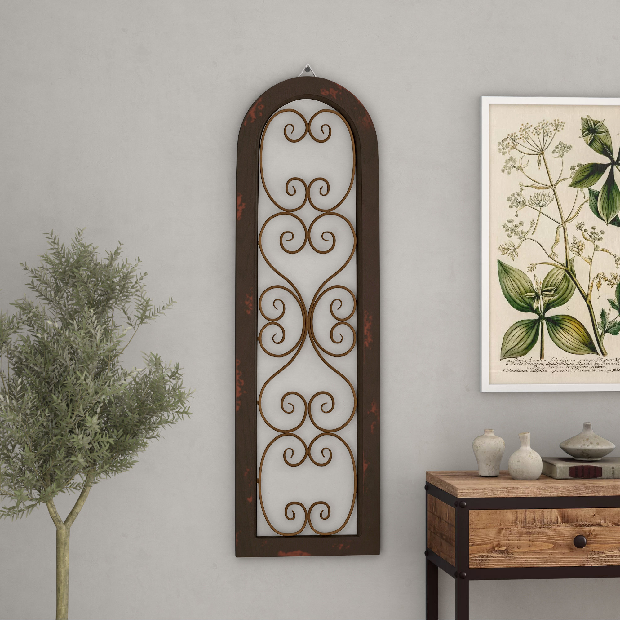 Lark Manor Brown Wood And Metal Wall Décor & Reviews (View 9 of 20)