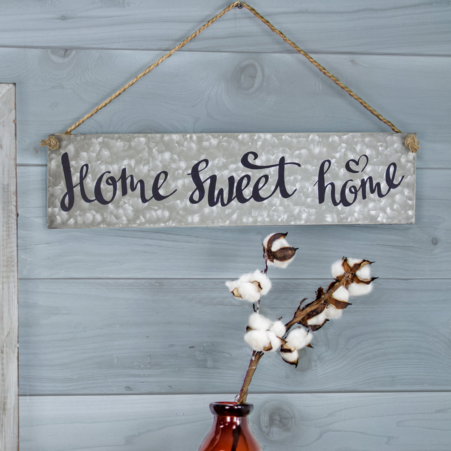 Latest Home Sweet Home Galvanized Metal Hanging Sign Wall Décor With Metal Laundry Room Wall Decor By Winston Porter (View 11 of 20)