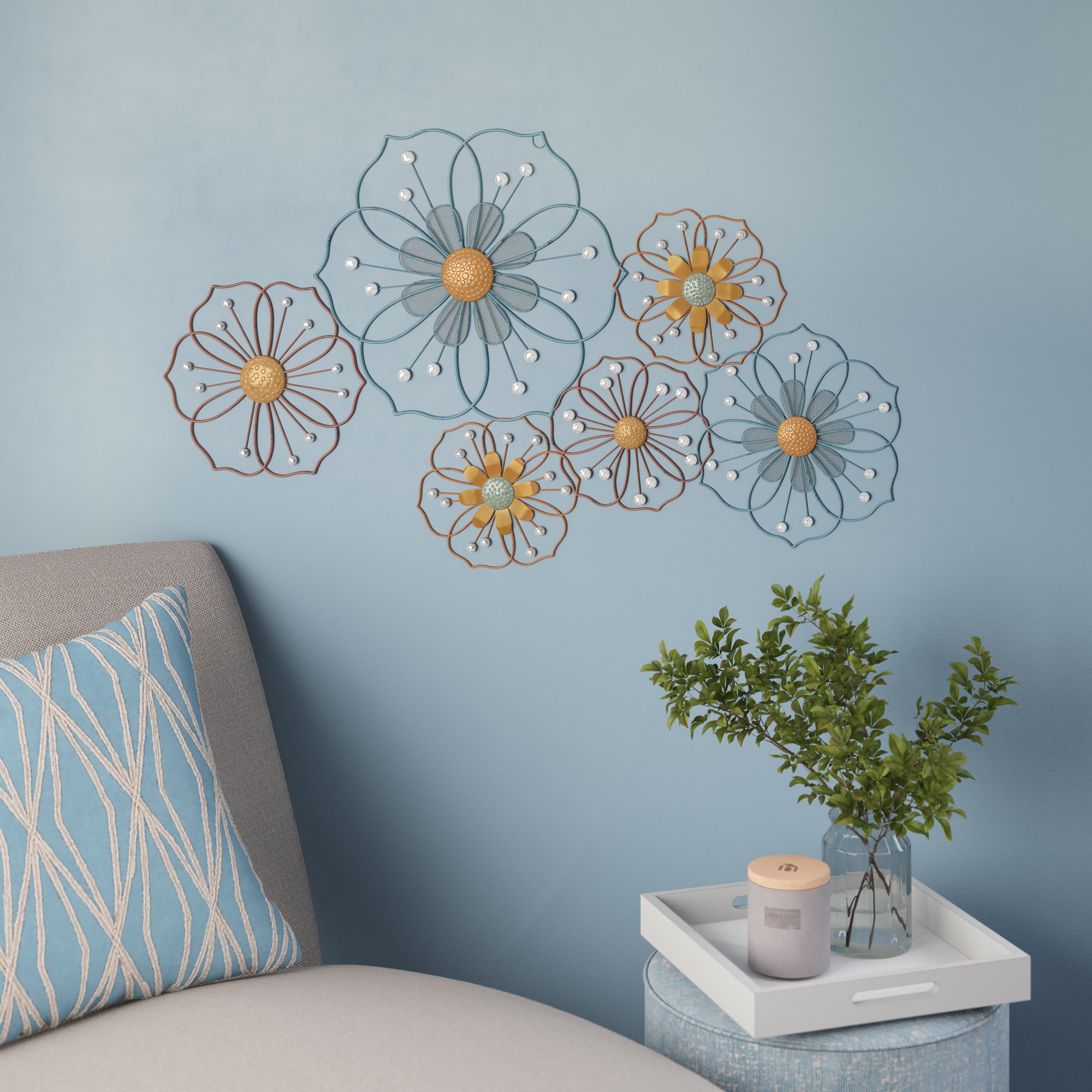 Latest Ila Metal Butterfly Wall Decor In Latitude Run Big But Simple Metal Wall Décor & Reviews (View 6 of 20)