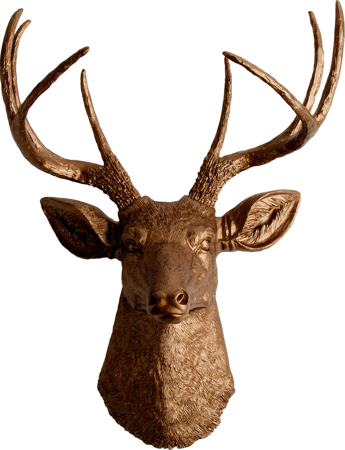 Latest Large Deer Head Faux Taxidermy Wall Decor with White Faux Taxidermy The Frankfurt Deer Head Wall Décor & Reviews