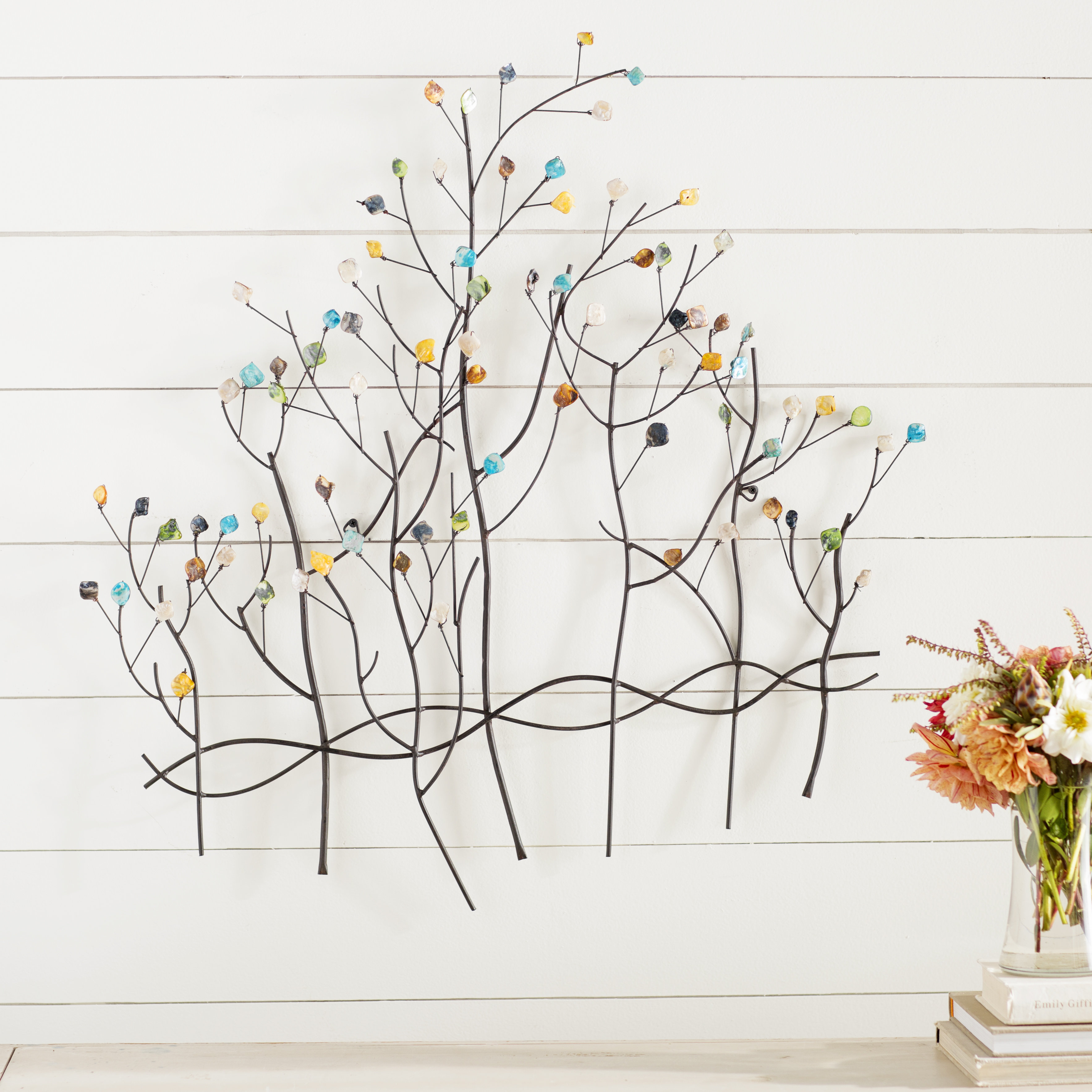 Latest Leaves Metal Sculpture Wall Decor By Winston Porter Regarding Winston Porter Contemporary Forest Metal Wall Décor & Reviews (View 4 of 20)