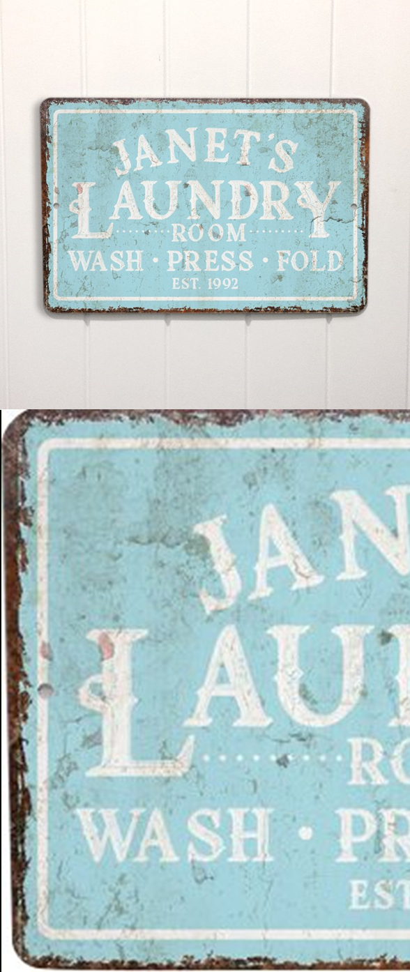 Latest Personalized Mint Distressed Vintage Look Laundry Metal Sign Wall With Personalized Mint Distressed Vintage Look Laundry Metal Sign Wall Decor (Gallery 2 of 20)