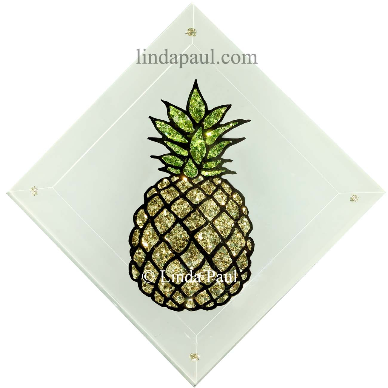 Latest Pineapple And Palm Tree Tropical Tiles – Handmade Glass Tiles In Pineapple Wall Decor (View 9 of 20)