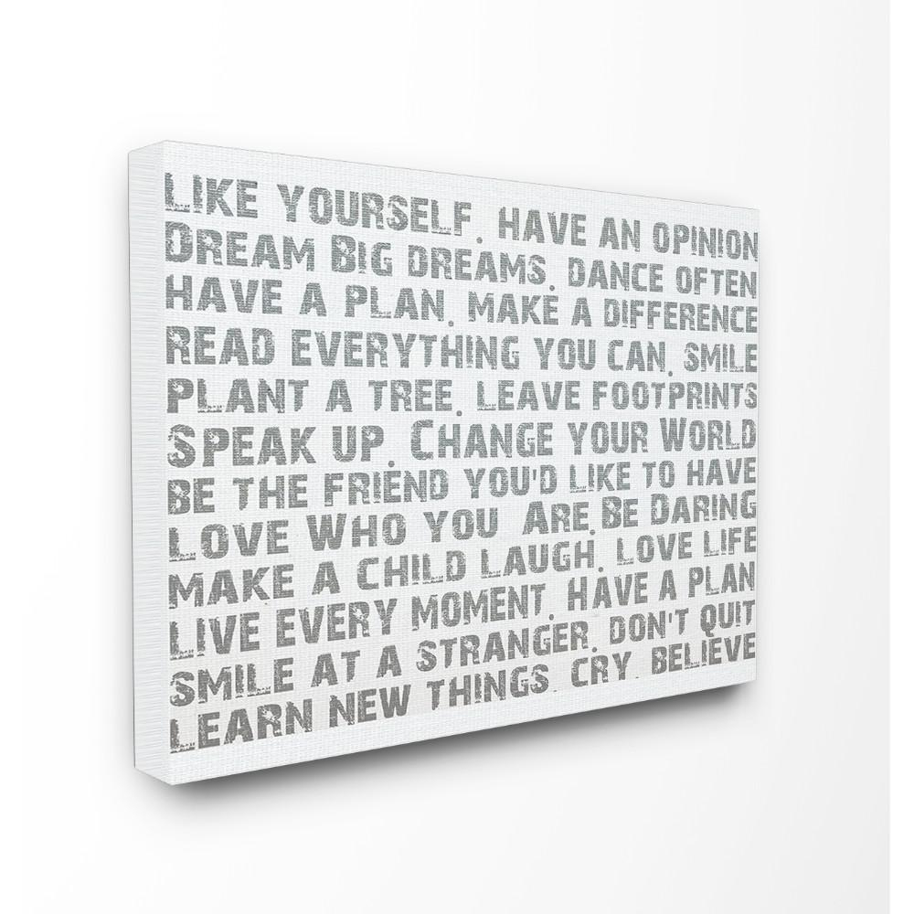 Latest Rectangle Like Yourself Inspirational Typography Wall Plaque For Stupell Industries 16 In. X 20 In (View 8 of 20)