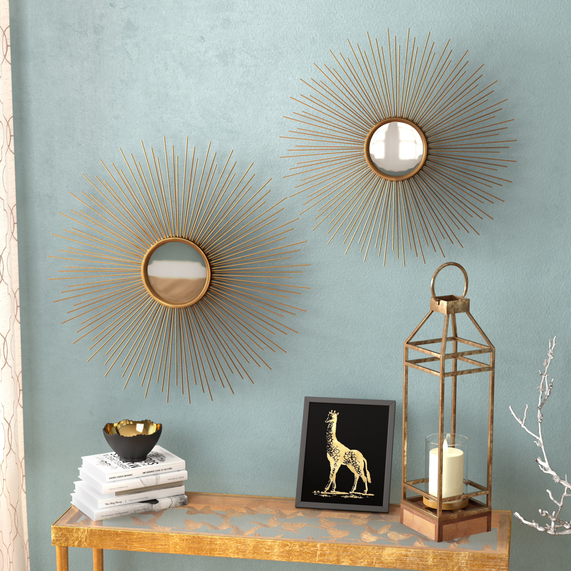 Latest Starburst Wall Decor By Willa Arlo Interiors With Willa Arlo Interiors Melora Sunburst Round Metal Wall Mirror (View 6 of 20)