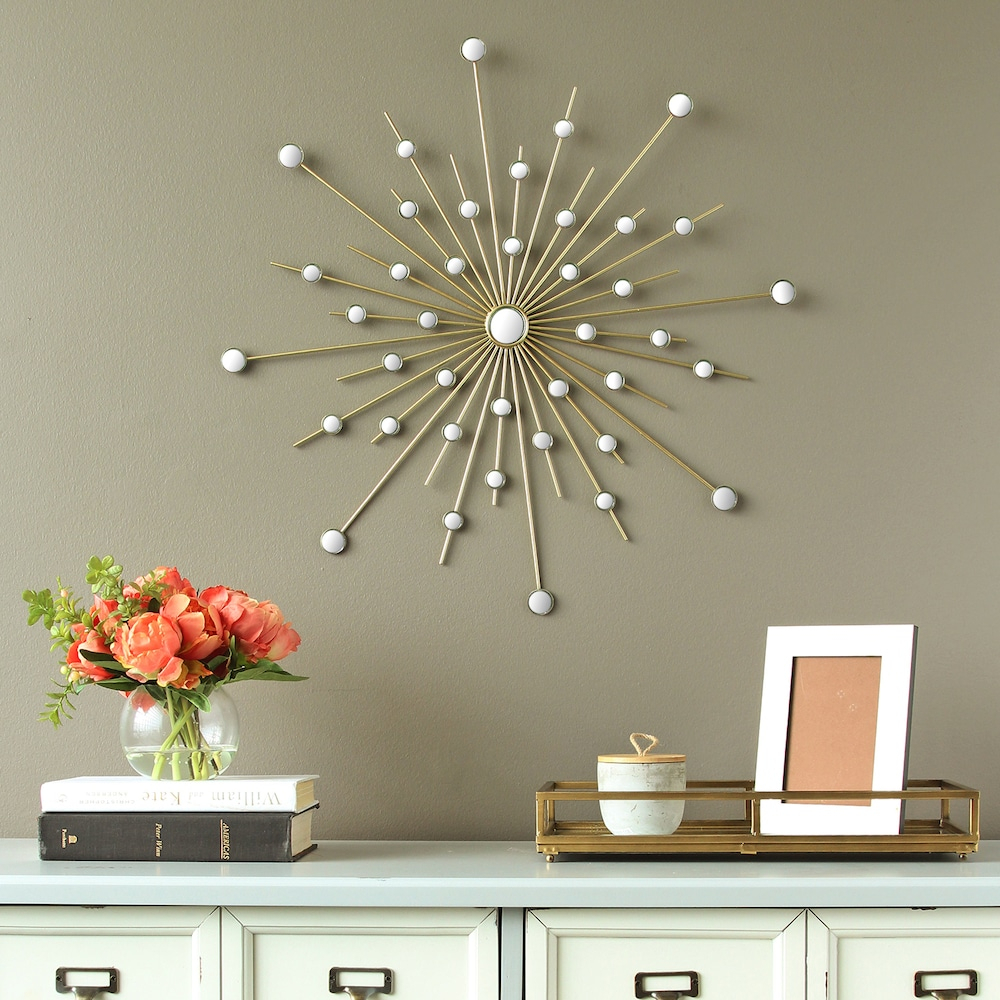 Latest Stratton Home Decor Mirrored Starburst Wall Decor (View 5 of 20)