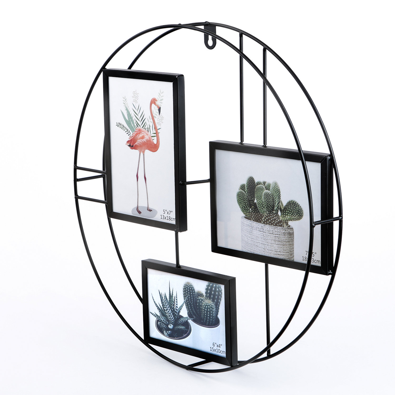 Lesia Round Metal Wire Collage Picture Frame & Reviews (View 10 of 20)
