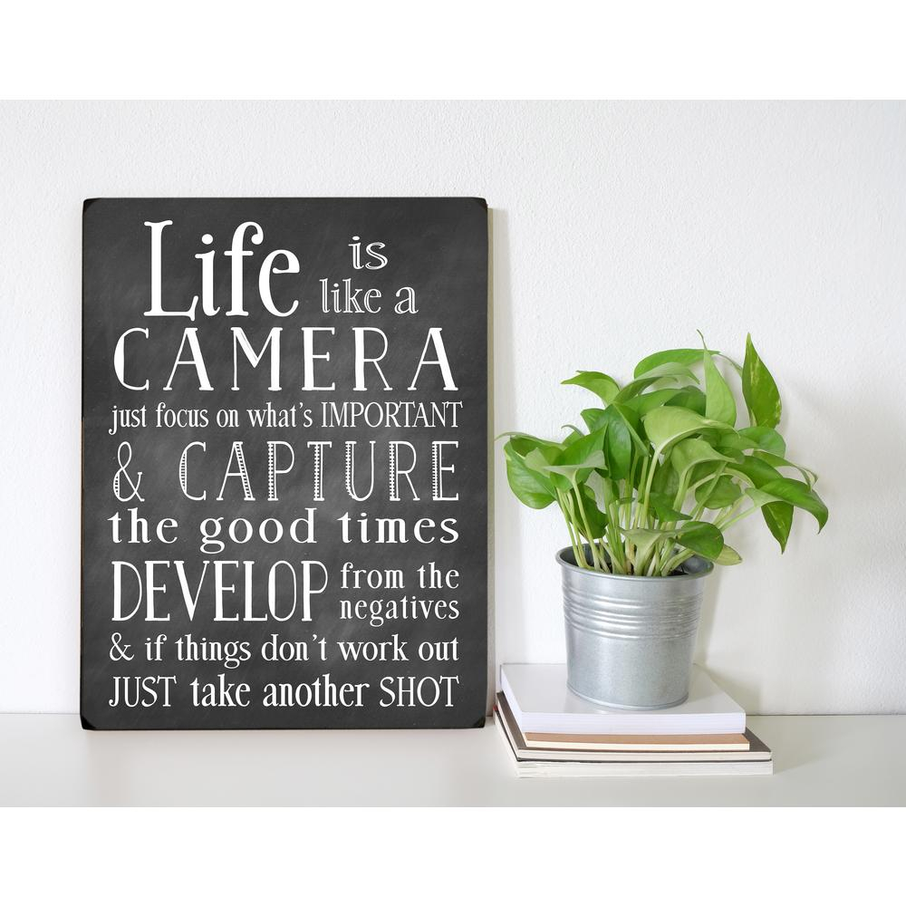 Life Is Like A Camera Textual Art For Latest 9 In. X 12 In (View 6 of 20)