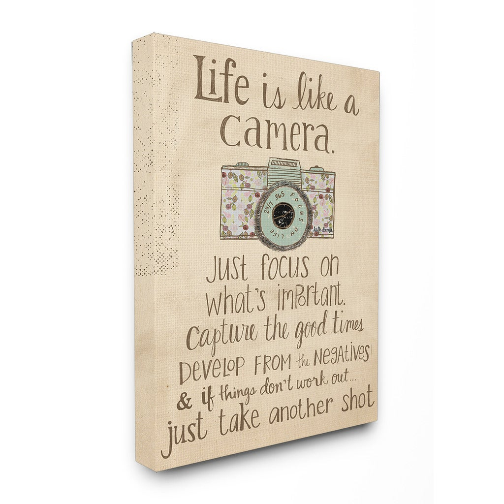 Life Is Like A Camera Textual Art Intended For Latest Shop Stupell Life Is Like A Camera Inspirational Art – On Sale (View 6 of 20)