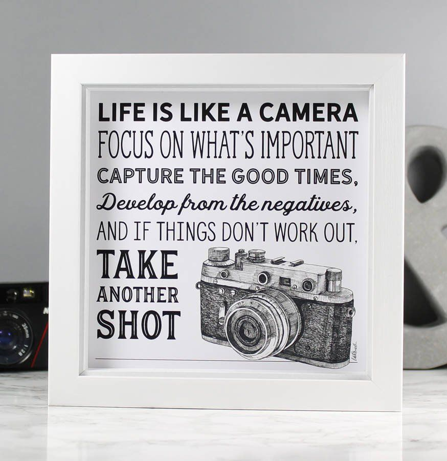 Life Is Like A Camera Textual Art Pertaining To Widely Used Life Is Like A Camera' Illustrated Quote Print (View 10 of 20)
