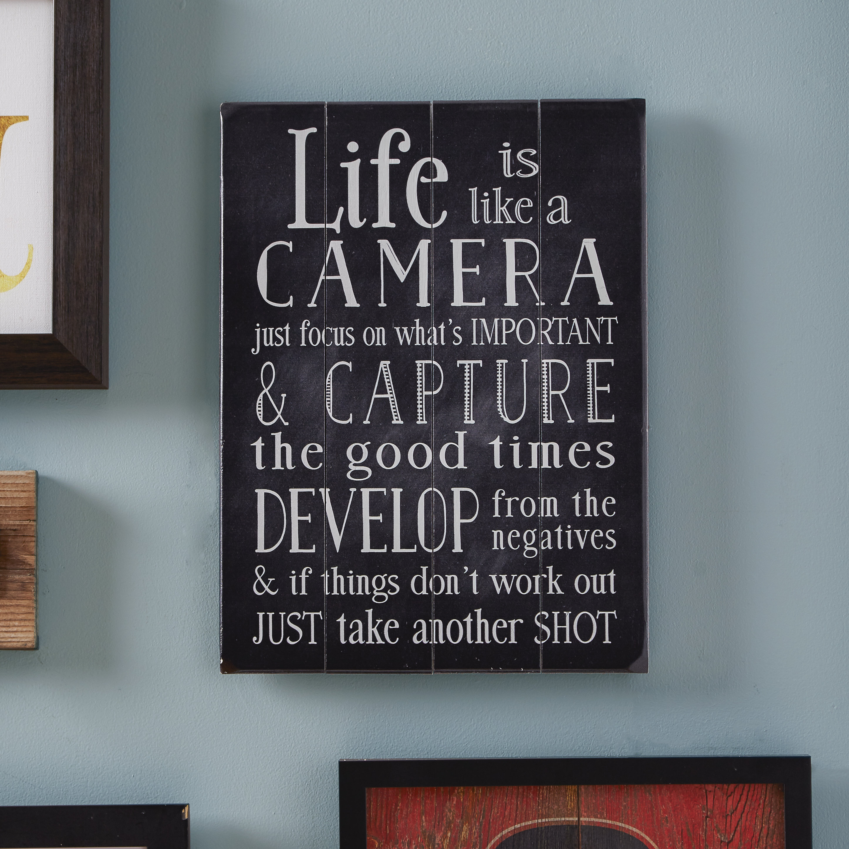 Life Is Like A Camera Textual Art Within Latest Lovely Life Is Like A Camera Wall Art – Life Quote (View 10 of 20)