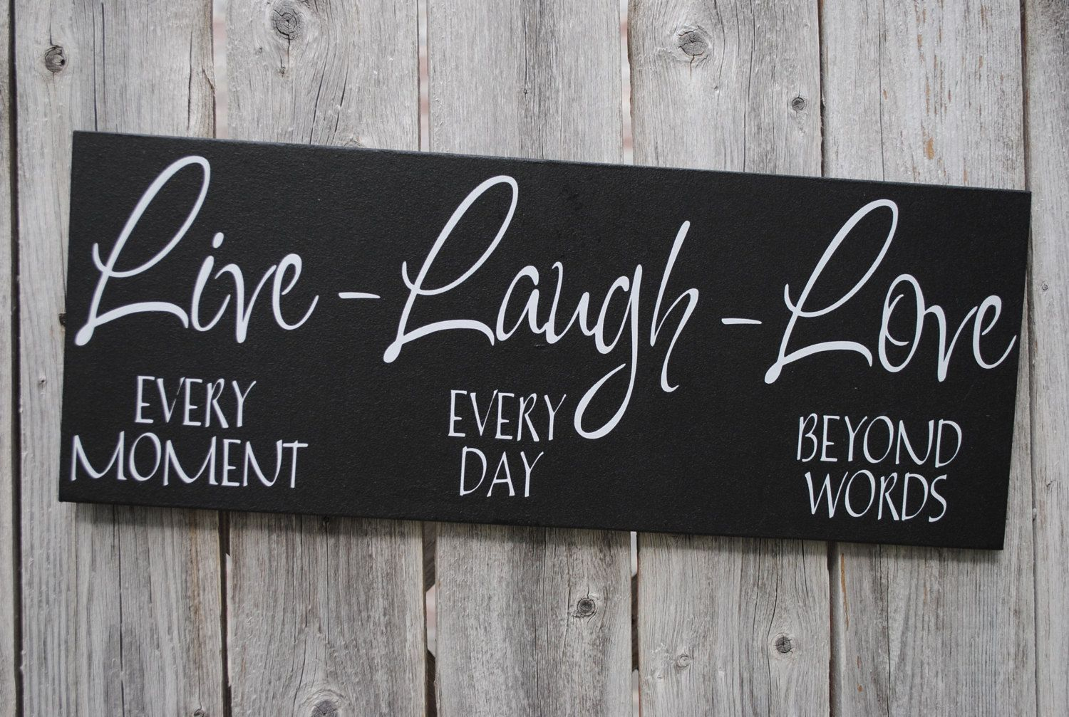 Live Laugh Love 6X18 Wood Sign Home Decor Signasuniqueasyou intended for Well-known Live Love Laugh 3 Piece Black Wall Decor Sets
