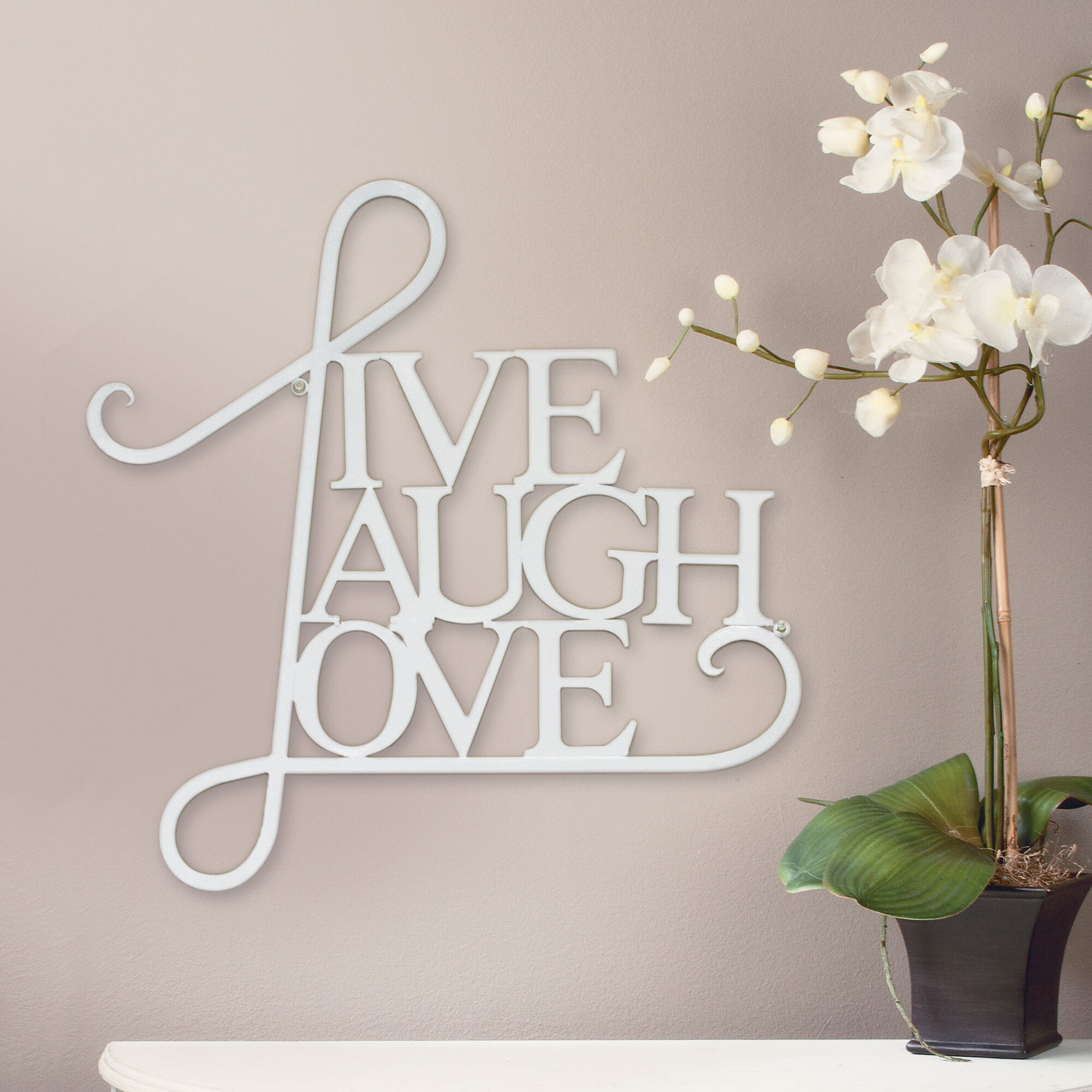 Featured Photo of Live, Laugh, Love Antique Copper Wall Decor