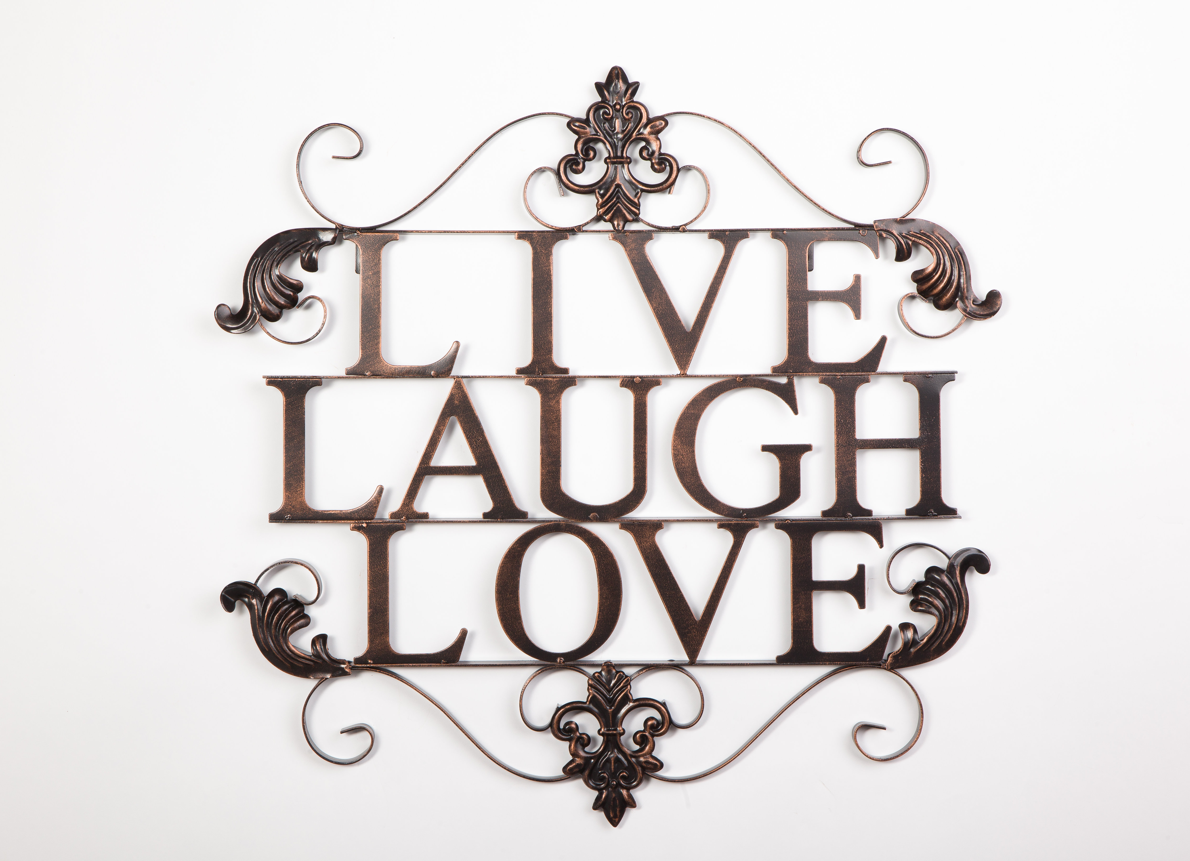 Live Laugh Love Wall Décor With Newest Live, Laugh, Love Antique Copper Wall Decor (View 6 of 20)