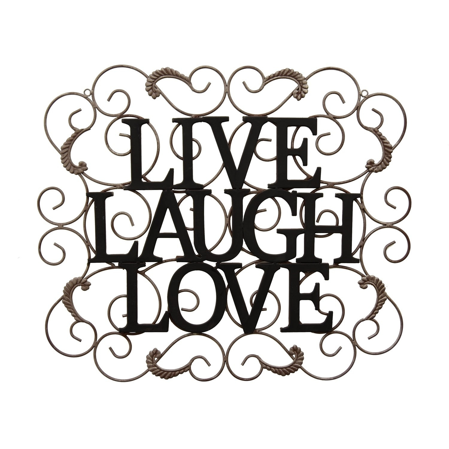 Live Love Laugh 3 Piece Black Wall Decor Sets with Preferred Shop Three Hands Wall Decor - Live/laugh/love - Free Shipping Today