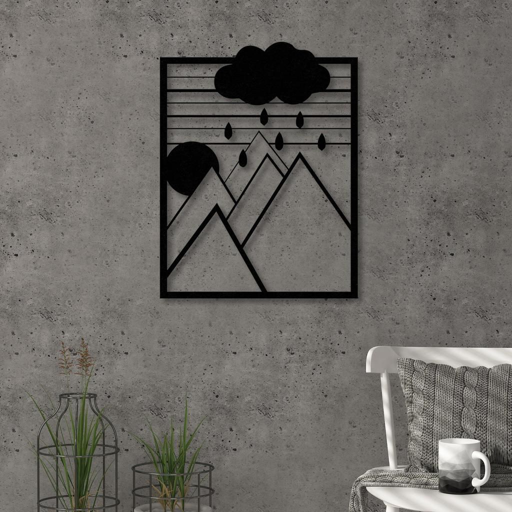 Meow Metal Decorative Wall Metal Wall Art Geometric Wall Art Black Intended For Popular Metal Wall Decor By Ebern Designs (View 8 of 20)