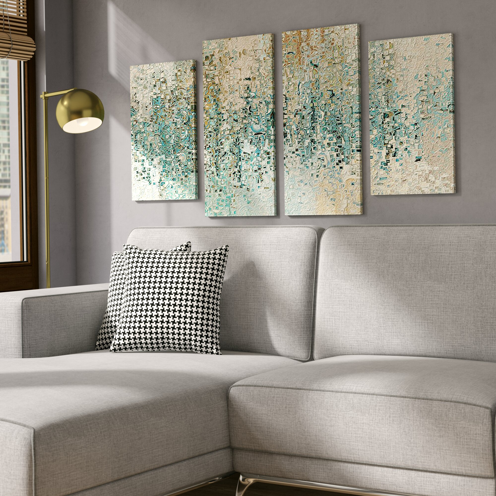 Mercury Row 'revealed' 4 Piece Framed Gallery Wall Set On Canvas With Popular 4 Piece Wall Decor Sets By Charlton Home (View 11 of 20)