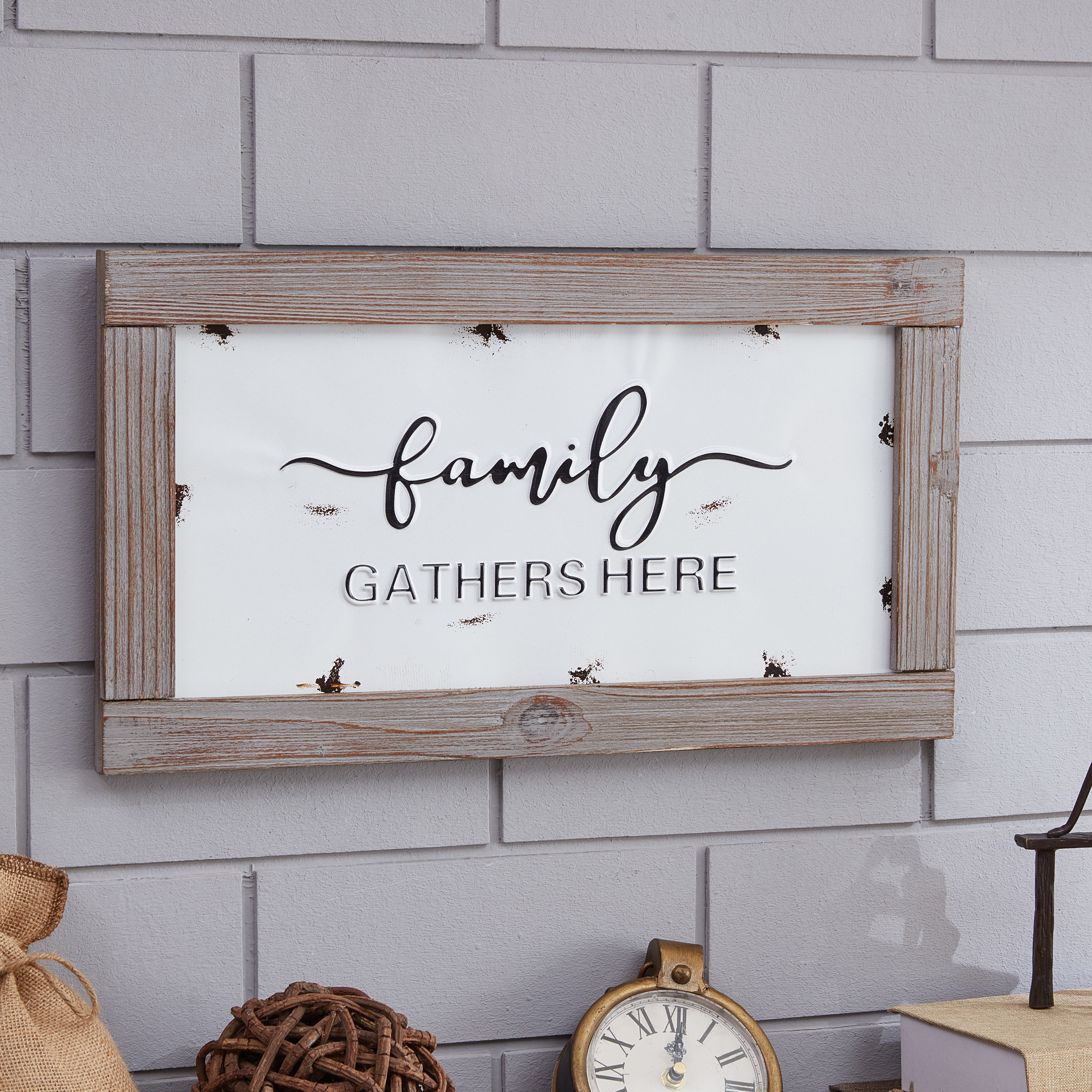 Metal Laundry Room Wall Decor By Winston Porter In 2020 Metal With Quote In Wooden Frame Wall Decor (View 13 of 20)
