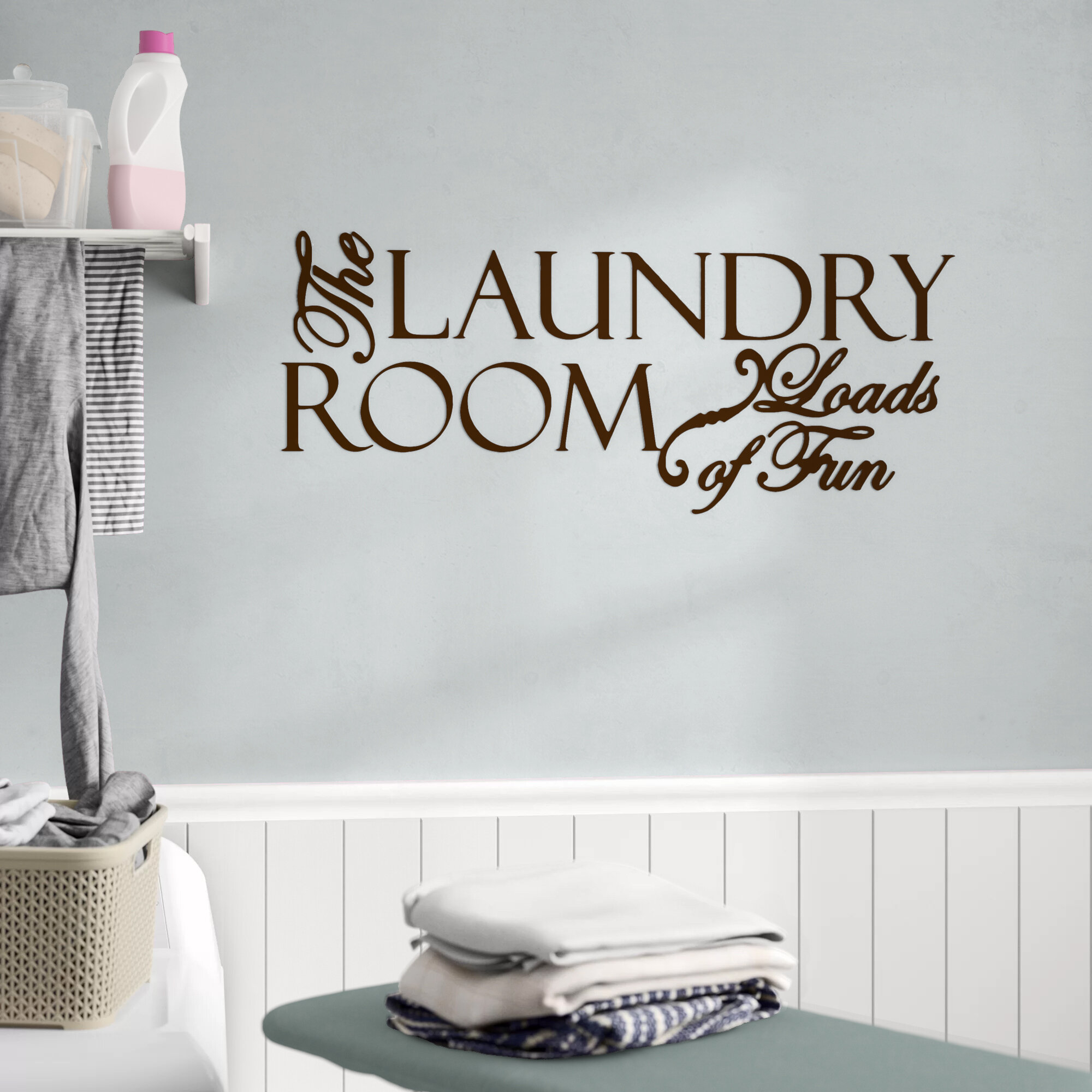 Metal Laundry Room Wall Decor By Winston Porter Throughout Most Popular Winston Porter The Laundry Room Loads Of Fun Wall Decal (View 8 of 20)