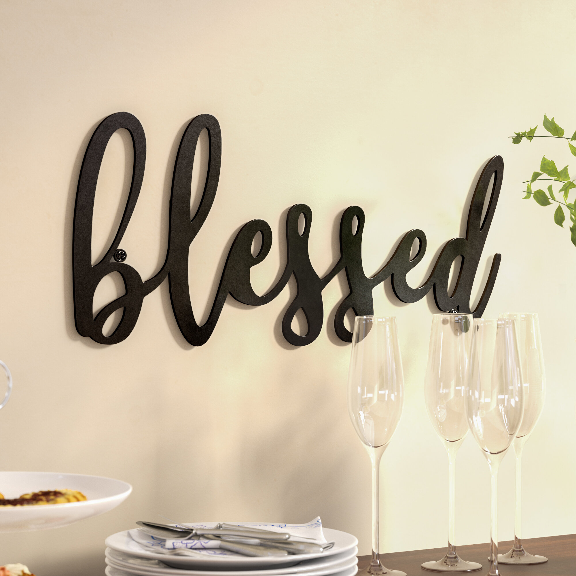 Metal Laundry Room Wall Decor By Winston Porter With Regard To Well Known Blessed Metal Wall Décor (View 6 of 20)
