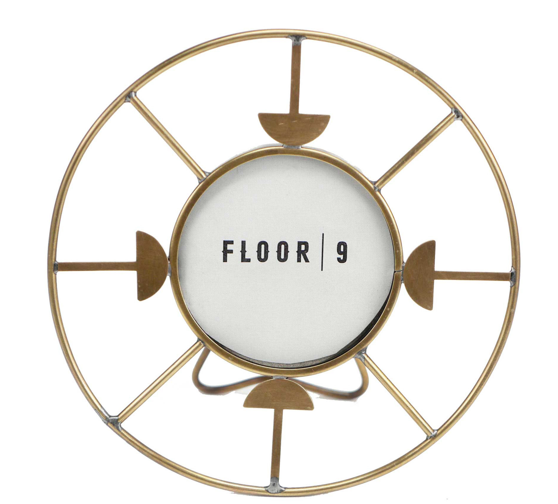 Millanocket Metal Wheel Photo Holder Wall Decor Intended For Well Liked Floor 9 Greggs Circular Picture Frame (View 12 of 20)