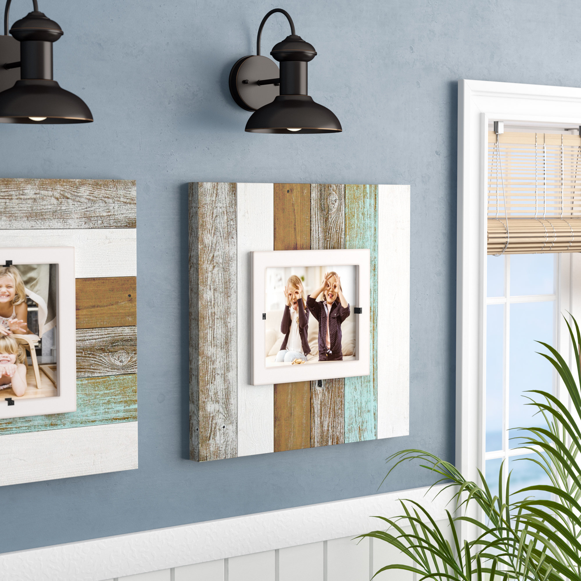 Millanocket Metal Wheel Photo Holder Wall Decor Within Most Recent Beachcrest Home Dunbarton Picture Frame (View 15 of 20)