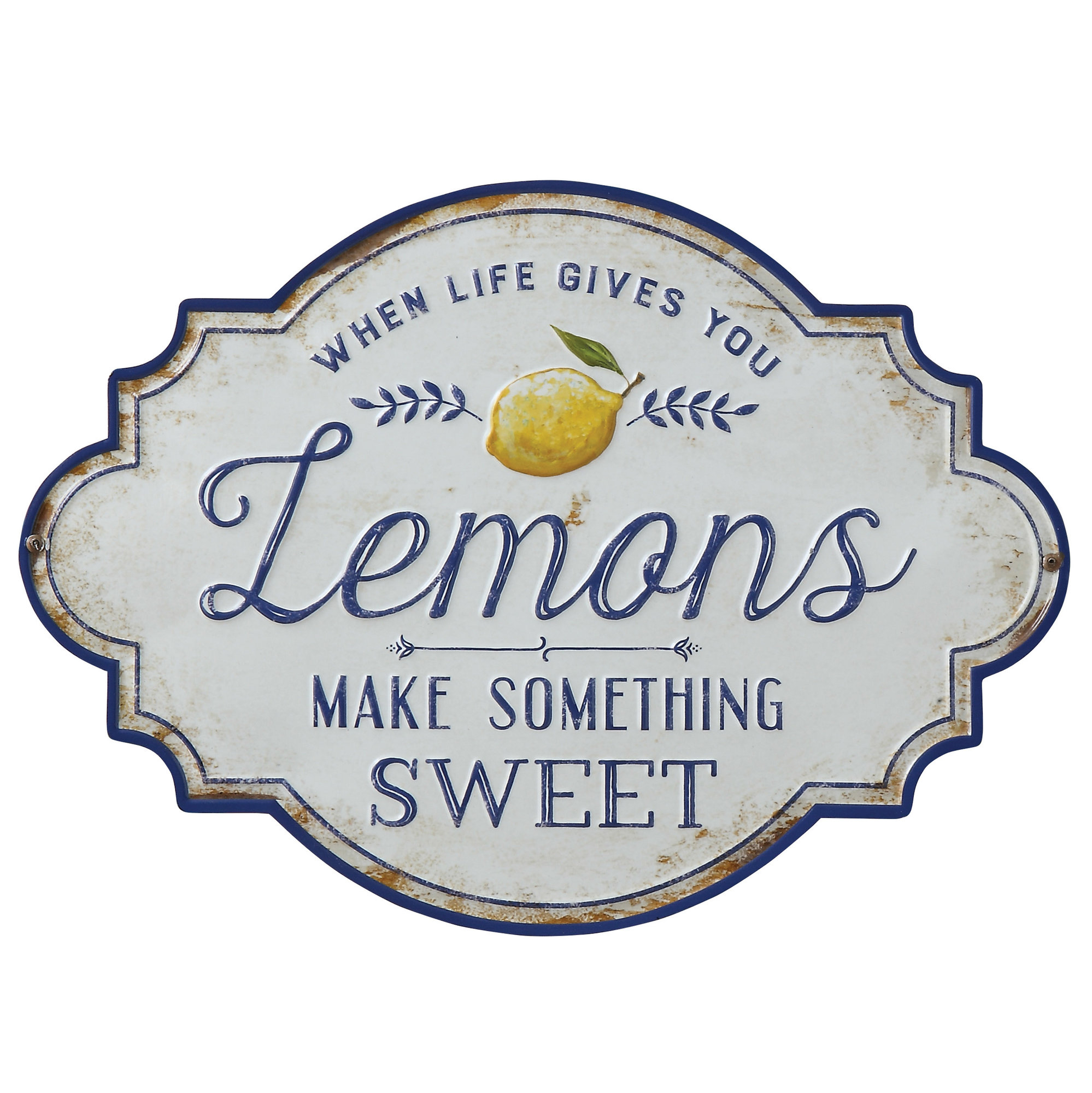 "Most Current Metal Wall Decor By Charlton Home Regarding Charlton Home ""when Life Gives You Lemons Make Something Sweet (View 11 of 20)"