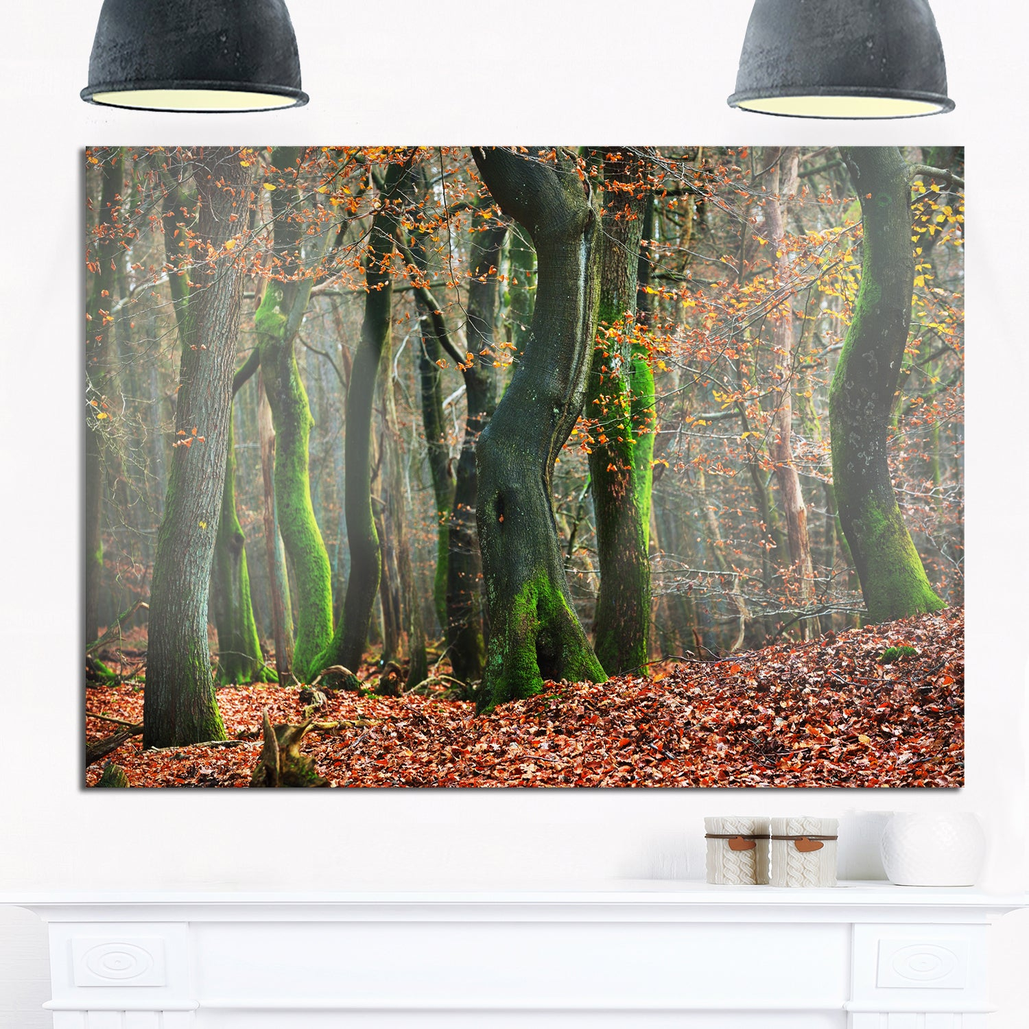 Most Current Shop Autumn Forest In The Netherlands – Landscape Photo Glossy Metal With Regard To Contemporary Forest Metal Wall Decor (View 9 of 20)