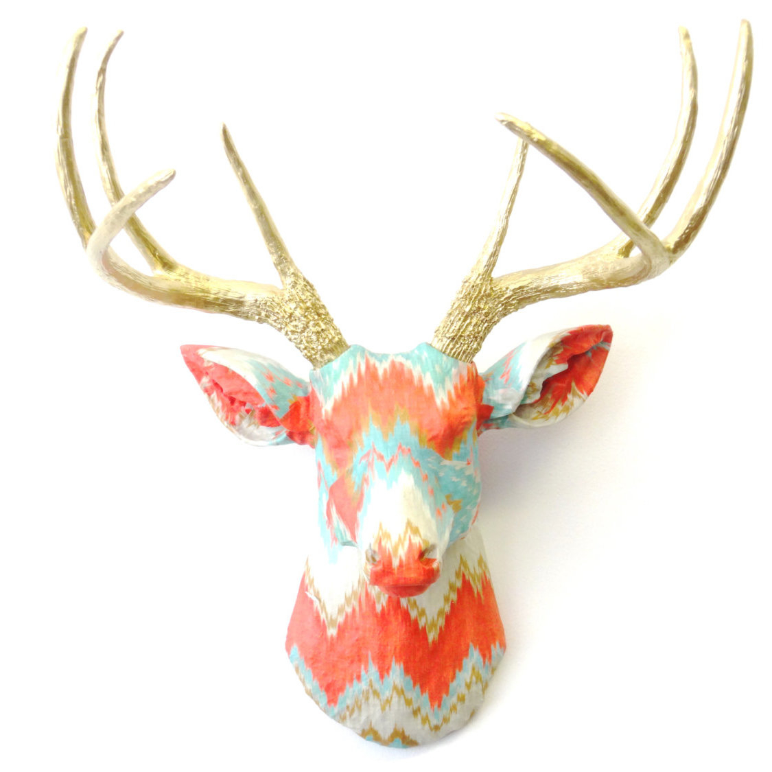 Most Popular Brayden Studio Faux Taxidermy Authentic Fabric Deer Head Wall Décor Inside Atlantis Faux Taxidermy Wall Decor (View 9 of 20)