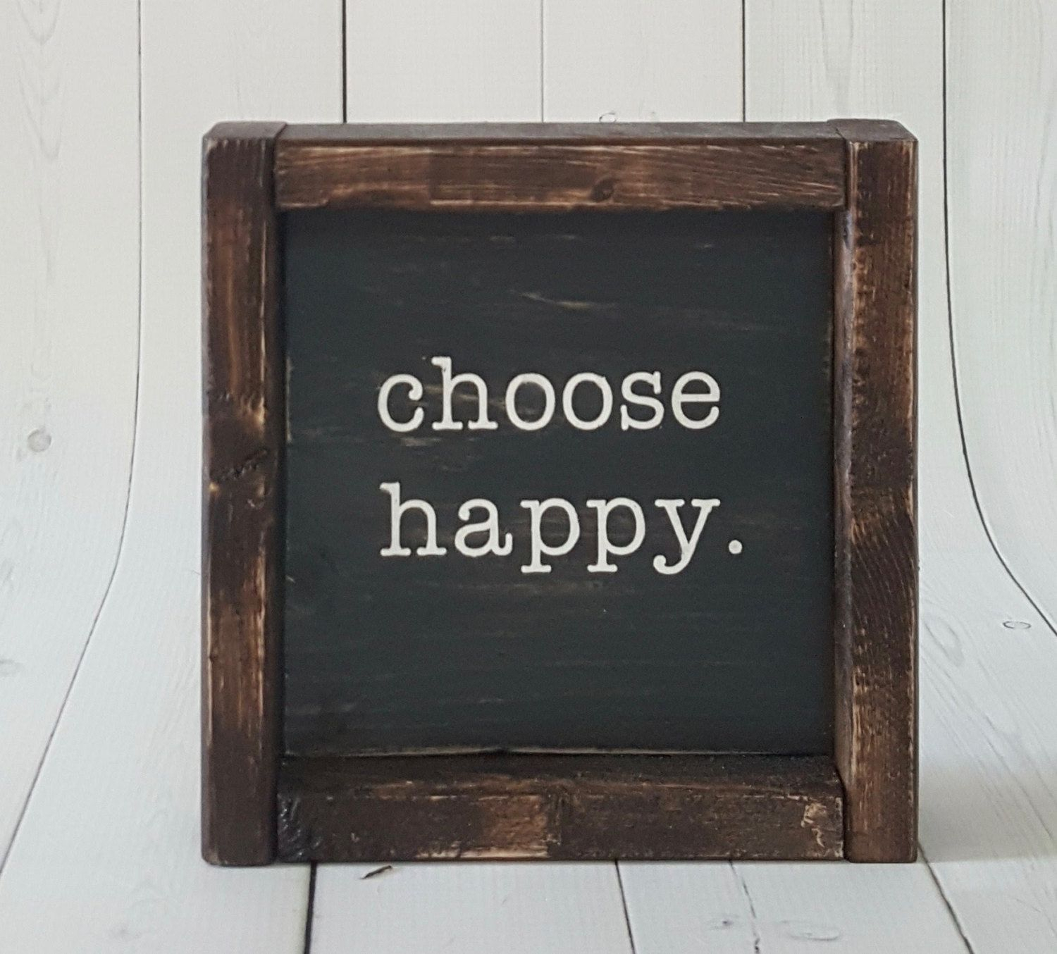 Most Popular Choose Happy – Choose Happy Sign – Farmhouse Mini Sign With Choose Happy Wood Wall Decor (View 8 of 20)