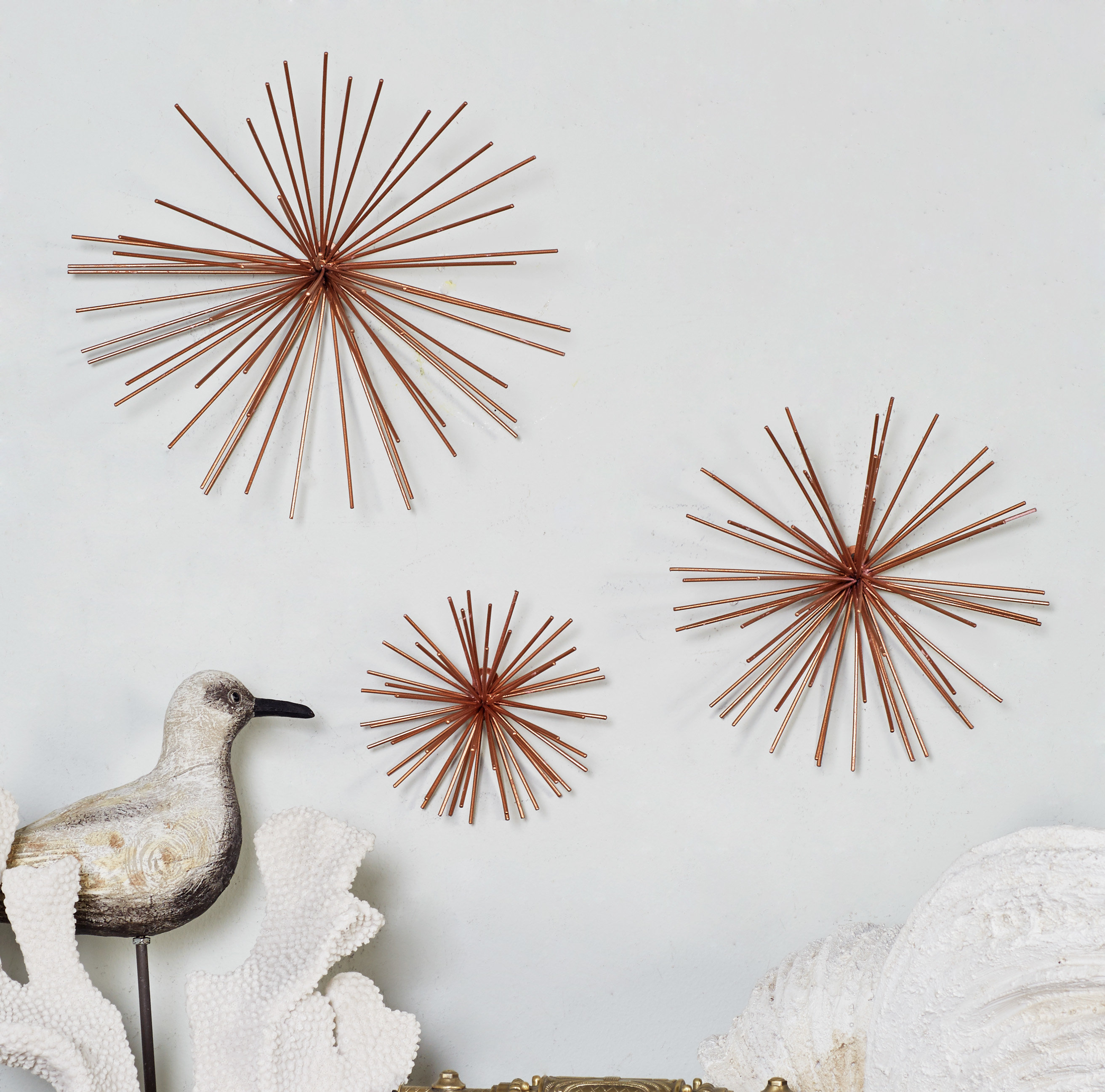 Most Recent 3 Piece Decorative Metal Star Wall Decor Set (View 10 of 20)