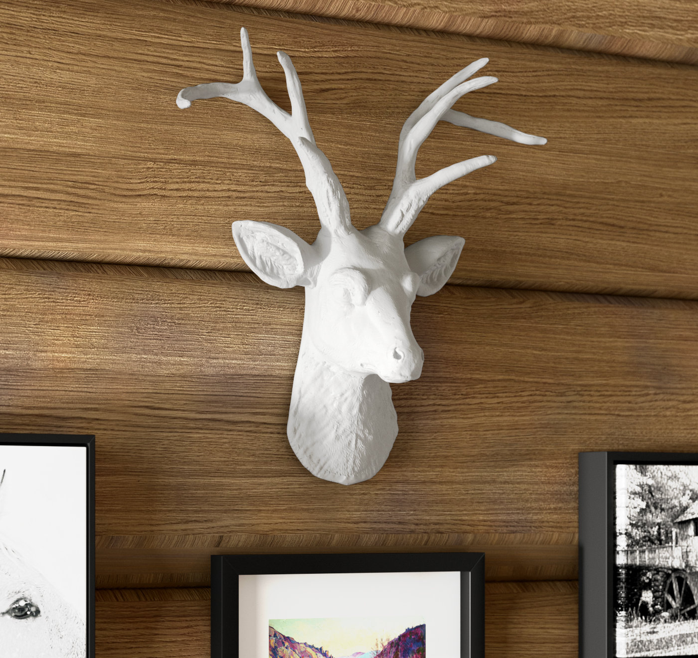 Most Recent Highlands Ranch The Templeton Wall Decor Regarding Union Rustic Cottage Faux Deer Head Wall Décor & Reviews (View 9 of 20)