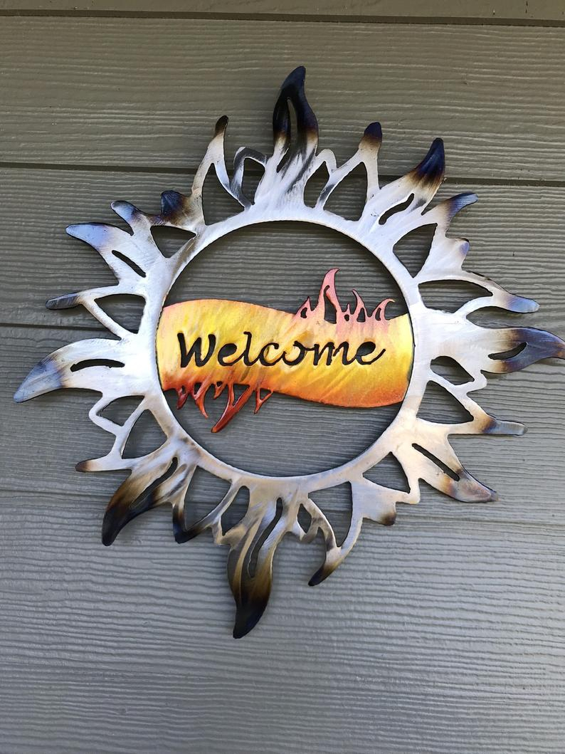 Most Recent Nature Metal Sun Wall Decor Throughout Metal Wall Art Metal Sun Welcome Sun Home Decor Signs (View 7 of 20)