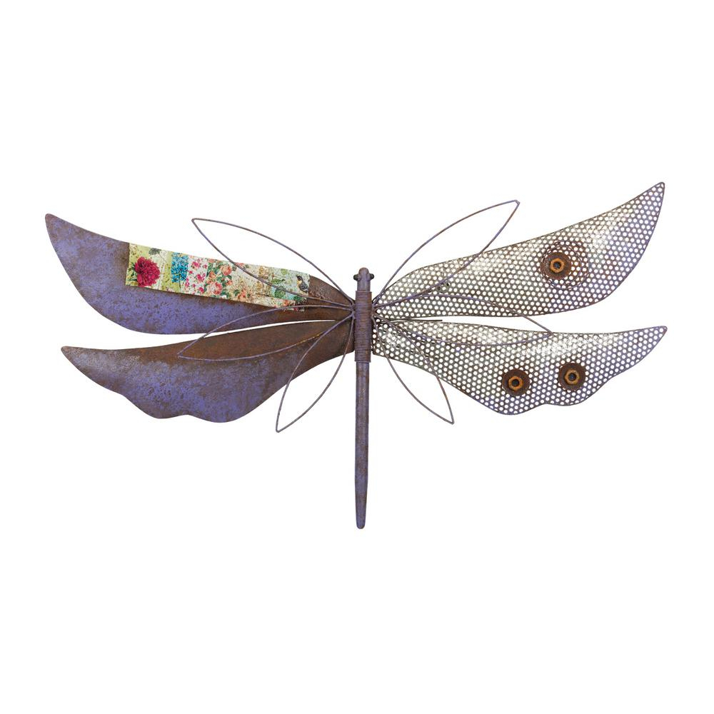 Most Recent Regal Rustic Wall Decor – Dragonfly Purple 12219 – The Home Depot Pertaining To Dragonfly Wall Decor (View 16 of 20)