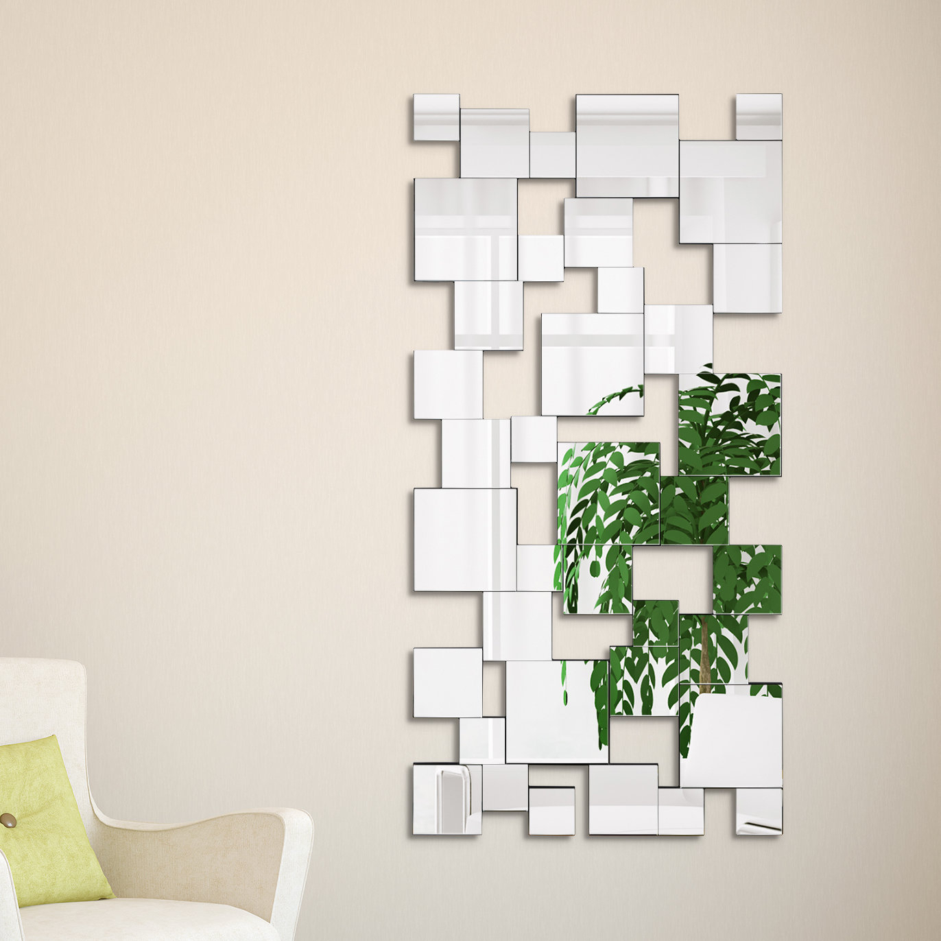 Most Recent Rings Wall Decor By Wrought Studio In Wrought Studio Funke Elegant Cluster Wall Mirror (View 7 of 20)