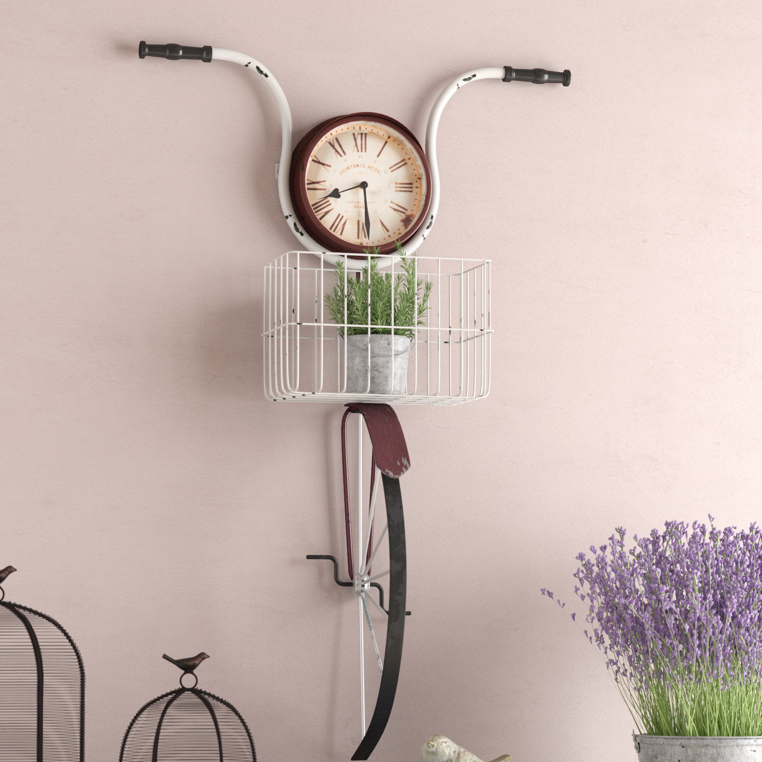 Most Recently Released Bike Wall Decor By August Grove For August Grove Andrewson Bicycle Wall Clock & Reviews (View 13 of 20)