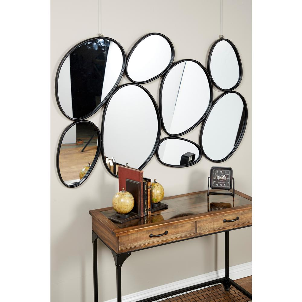 Most Recently Released Maxwell Wood And Metal Wall Decor Throughout Litton Lane Contemporary Geometric Oval Mirrors Wall Decor With (View 16 of 20)