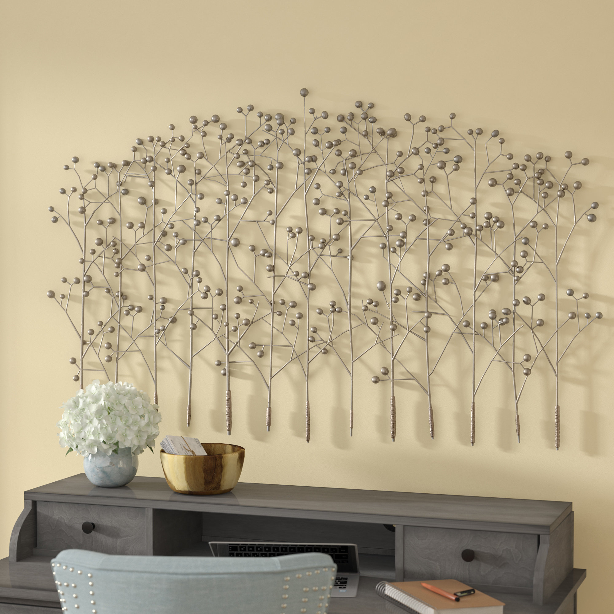 Most Recently Released Red Barrel Studio Antique Silver Trees Wall Décor & Reviews (View 14 of 20)