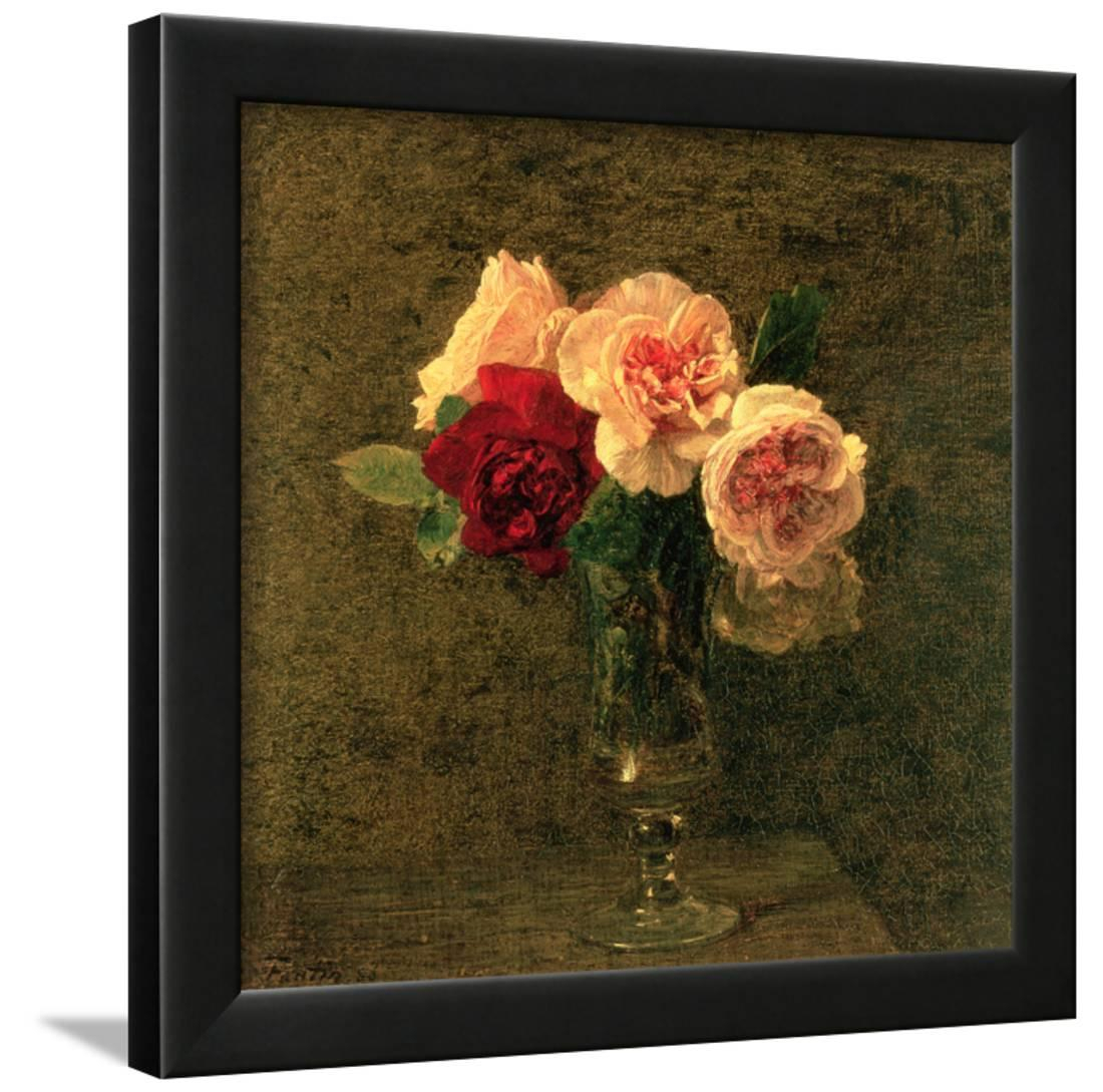 Most Recently Released Still Life Of Pink And Red Roses, 19th Century Framed Print Wall Art Intended For Latour Wall Decor (View 14 of 20)