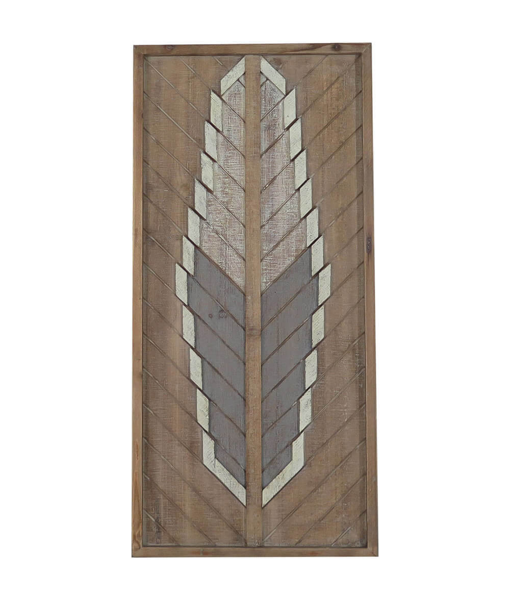 Most Up To Date Buy Arrow Feather Detail Medium Frame Wall Tribal Art Decor Regarding Brown Metal Tribal Arrow Wall Decor (View 14 of 20)