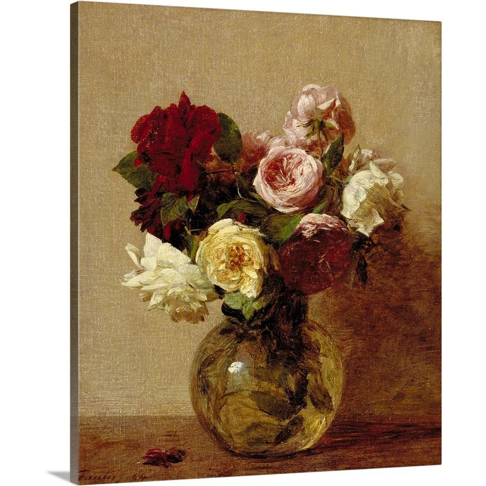 "Most Up To Date Greatbigcanvas ""roses, 1884""ignace (1836 1904) Fantin Latour Inside Latour Wall Decor (View 6 of 20)"
