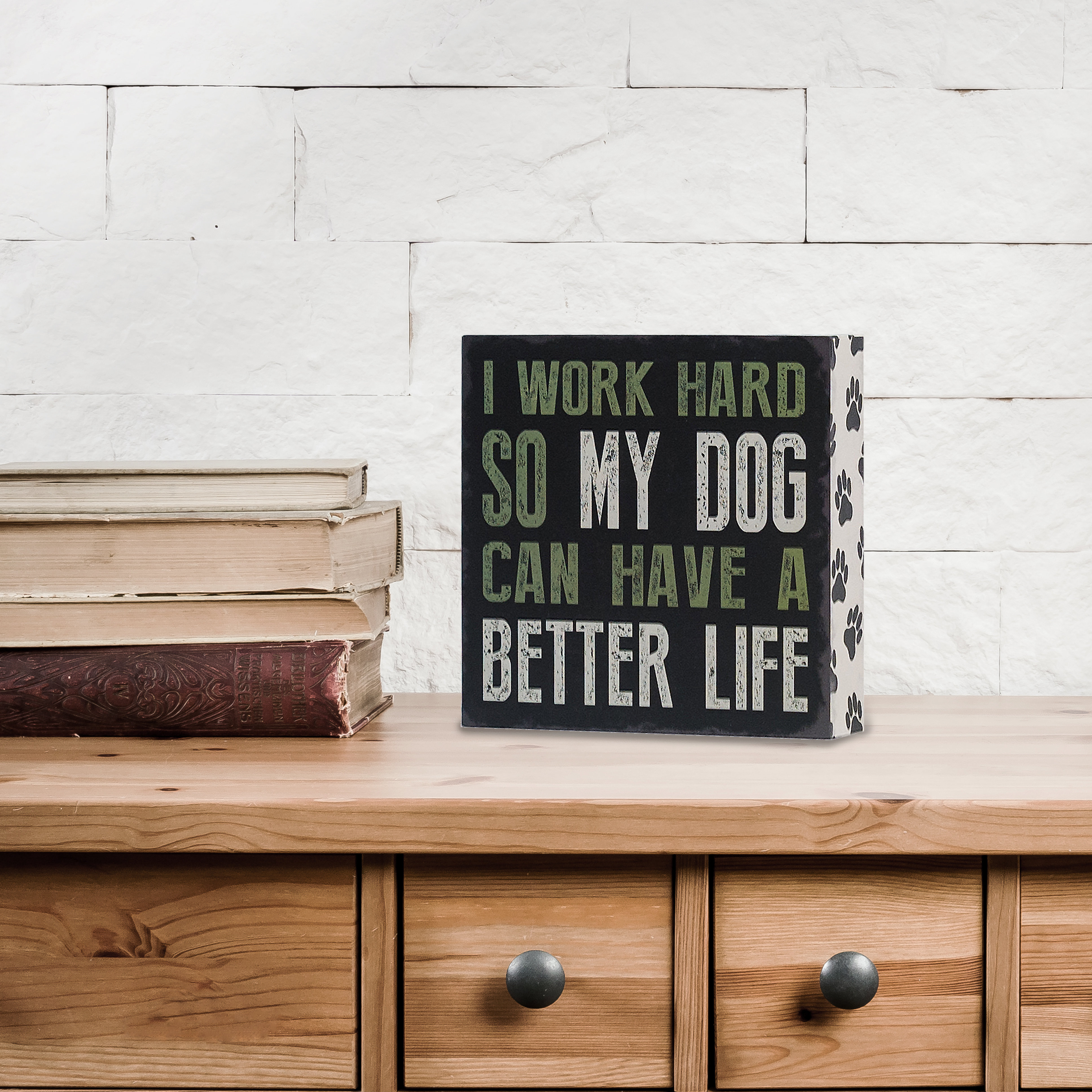 Most Up To Date Metal Laundry Room Wall Decor By Winston Porter For I Work Hard So My Dog Can Have A Better Life Wall Décor (View 17 of 20)