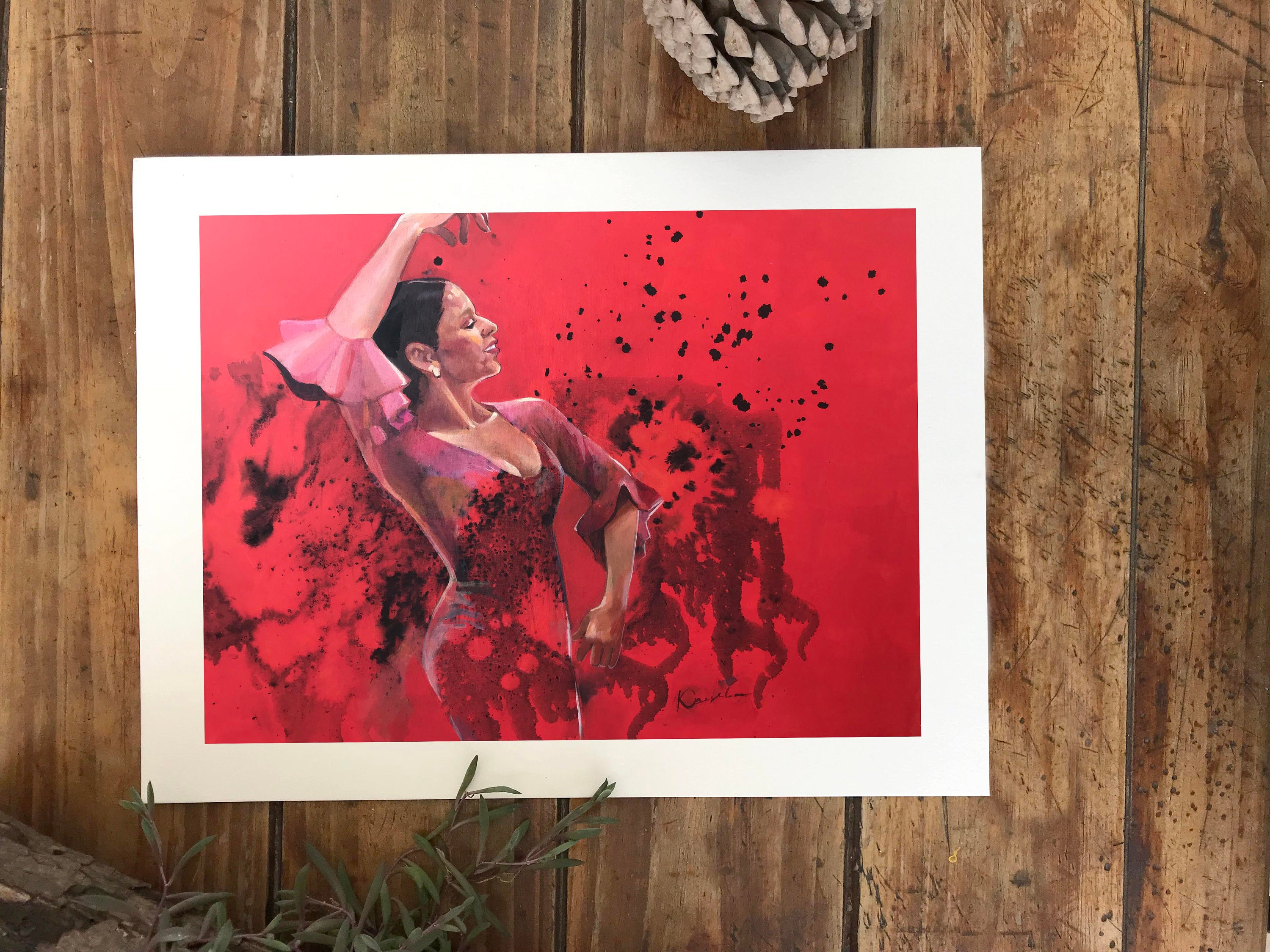 Most Up To Date Print Of Acrylic Painting Spanish Dances Inkhome Decor Art (View 2 of 20)