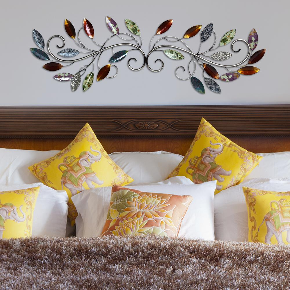 Most Up To Date Stratton Home Decor Metal Multi Leaf Scroll Wall Decor Shd0228 – The With Regard To Scroll Leaf Wall Decor (View 3 of 20)