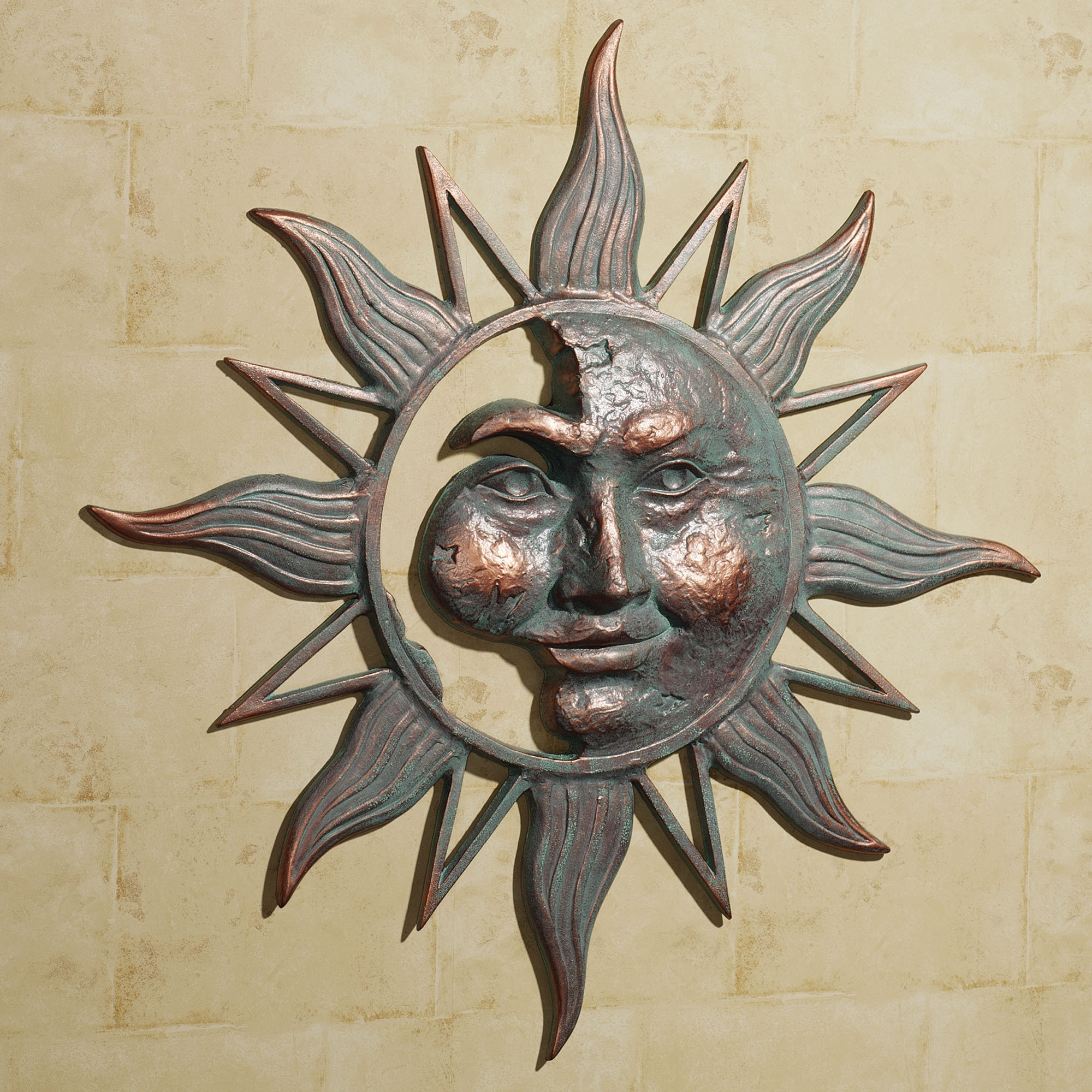 Nature Metal Sun Wall Decor pertaining to 2019 Copper Sun Face Wall Decor