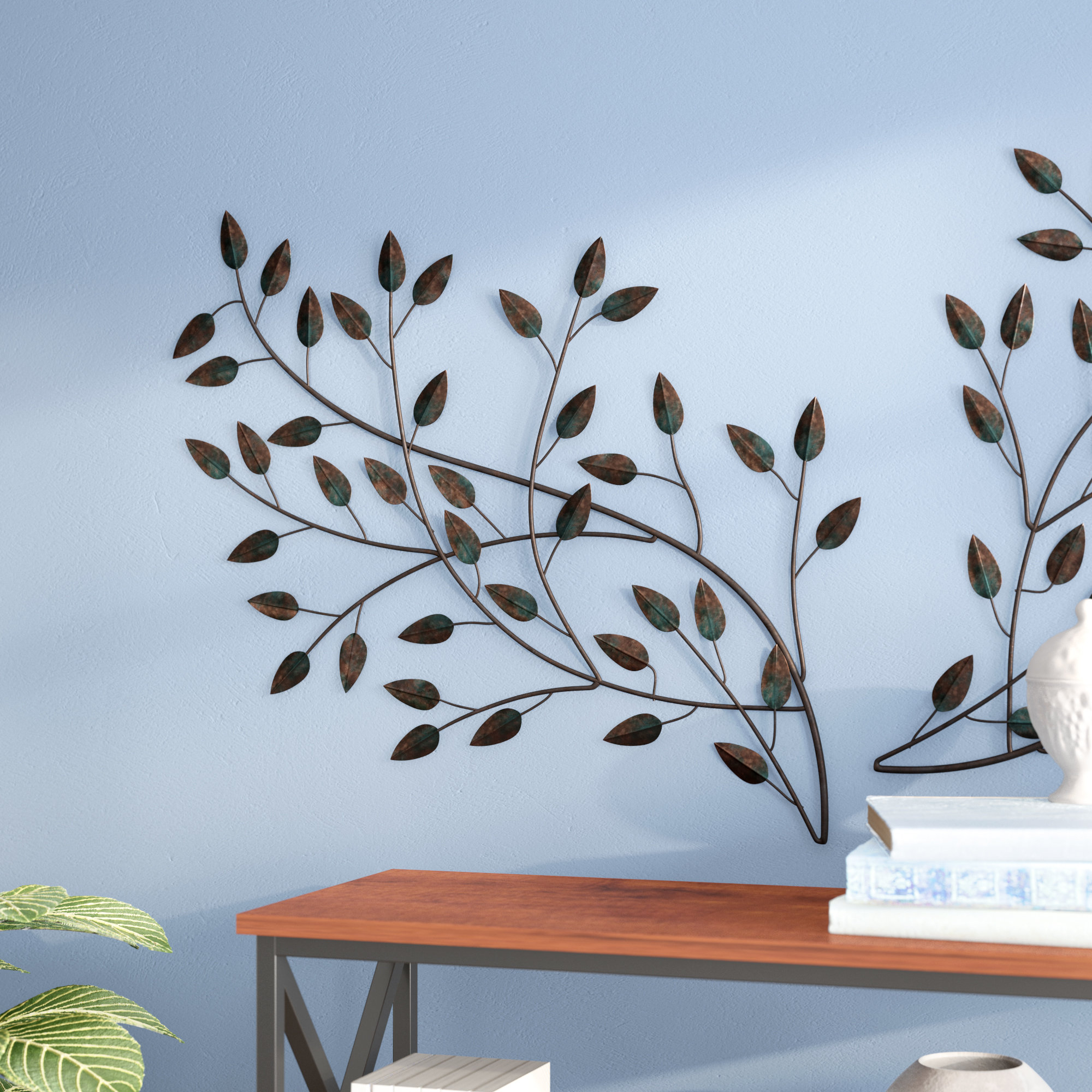 Newest Contemporary Iron Leaves Wall Decor By Winston Porter With Regard To Winston Porter Blowing Leaves Wall Décor & Reviews (Gallery 1 of 20)