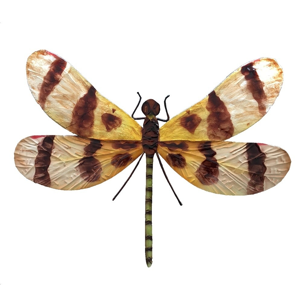 Newest Dragonfly Wall Decor With Shop Handmade Brown And Yellow Dragonfly Wall Decor – On Sale – Free (View 17 of 20)
